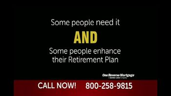 One Reverse Mortgage TV Spot, 'Attention Homeowners 62 and Older' - Thumbnail 3