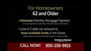 One Reverse Mortgage TV Spot, 'Attention Homeowners 62 and Older' - Thumbnail 6