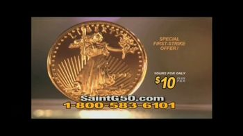 New England Mint Coins Saint Gaudens $50 Double Eagle TV Spot, 'Intricate' - Thumbnail 6
