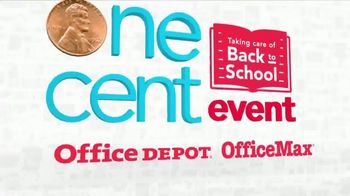 Office Depot One Cent Event TV Spot, 'Taking Care of Back to School' - Thumbnail 2
