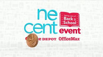 Office Depot One Cent Event TV Spot, 'Taking Care of Back to School' - Thumbnail 3