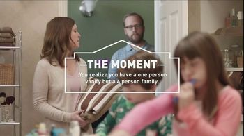 Lowe's TV Spot, 'The Moment: Vanity: Bath Faucets' - 155 commercial airings