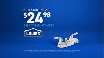 Lowe's TV Spot, 'The Moment: Vanity: Bath Faucets' - Thumbnail 8