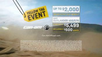 Can-Am Yellow Tag Event TV Spot, 'Outlander 450' - Thumbnail 7