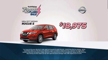 AutoNation 72 Hour Flash Sale TV Spot, '2017 Nissan Rogue S' - Thumbnail 4