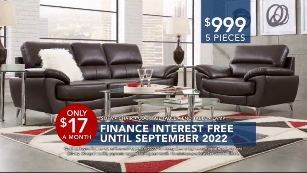 Rooms to Go Labor Day Sale TV Commercial FivePiece Living Room