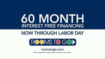 Rooms to Go Labor Day Sale TV Spot, 'Five-Piece Living Room' - Thumbnail 6