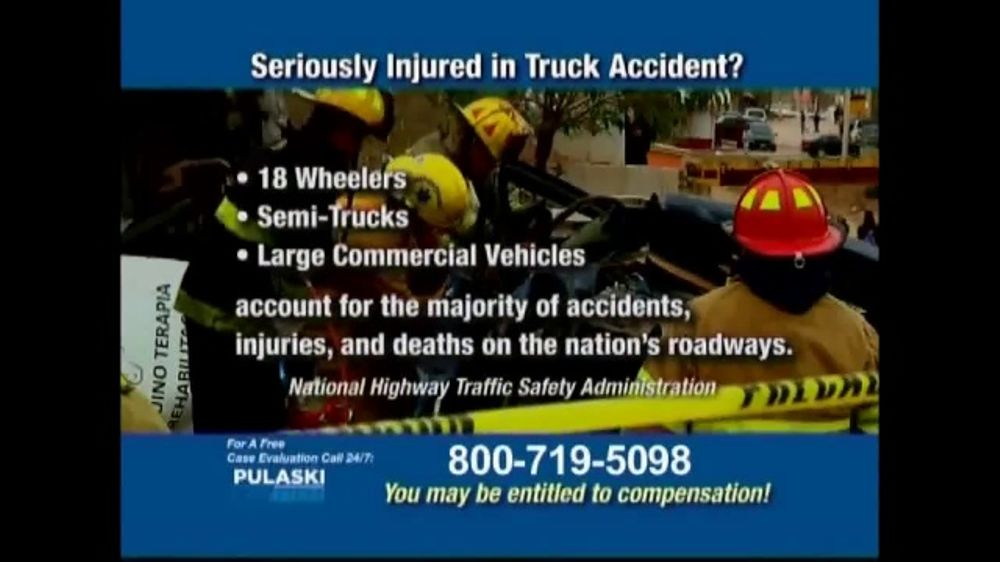 Pulaski Law Firm >> Pulaski Law Firm TV Commercial, 'Truck Accident' - iSpot.tv