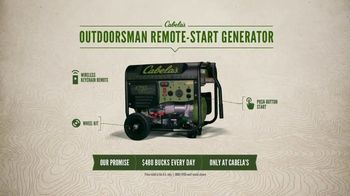 Cabela's Outdoorsman Remote-Start Generator TV Spot, 'Quiet Confidence'