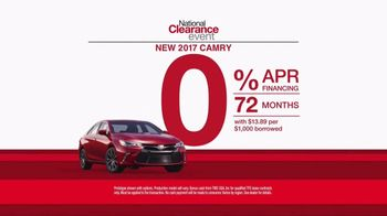 Toyota National Clearance Event TV Spot, 'Great Deals: 2017 Camry' [T2] - Thumbnail 5