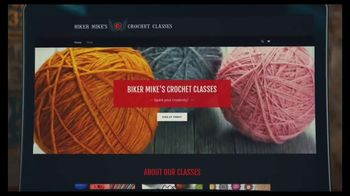 GoDaddy GoCentral TV Spot, 'Biker Mike's Crochet Classes' - Thumbnail 2