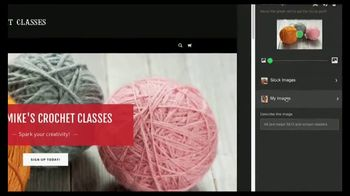 GoDaddy GoCentral TV Spot, 'Biker Mike's Crochet Classes' - Thumbnail 5