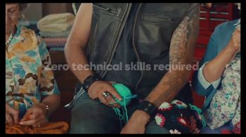 GoDaddy GoCentral TV Spot, 'Biker Mike's Crochet Classes' - Thumbnail 6