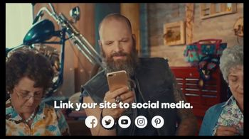 GoDaddy GoCentral TV Spot, 'Biker Mike's Crochet Classes' - Thumbnail 9