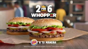 Burger King 2 for $6 Whopper Deal TV Spot, 'Sorpresa' [Spanish] - Thumbnail 8