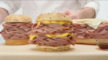 Arby's Half Pound Roast Beef Sandwiches TV Spot, 'Just Eat Half' - Thumbnail 2