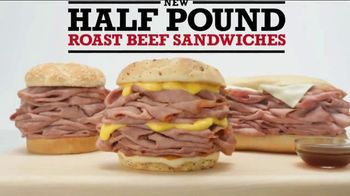 Arby's Half Pound Roast Beef Sandwiches TV Spot, 'Just Eat Half' - Thumbnail 4