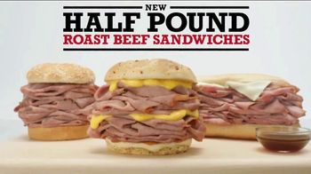 Arby's Half Pound Roast Beef Sandwiches TV Spot, 'Just Eat Half' - Thumbnail 5