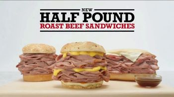Arby's Half Pound Roast Beef Sandwiches TV Spot, 'Just Eat Half' - Thumbnail 8