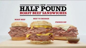 Arby's Half Pound Roast Beef Sandwiches TV Spot, 'Just Eat Half' - Thumbnail 9