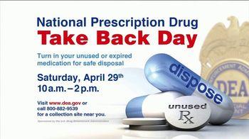 DEA TV Spot, '2017 Prescription Drug Take Back Day' Featuring Jim Palmer - Thumbnail 5