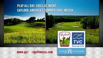 Gaylord Michigan Tourism Bureau TV Spot, 'Summer Golf Mecca' - Thumbnail 8
