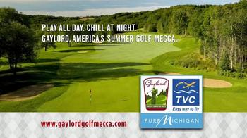 Gaylord Michigan Tourism Bureau TV Spot, 'Summer Golf Mecca' - Thumbnail 1