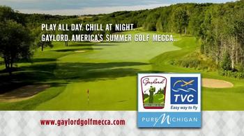 Gaylord Michigan Tourism Bureau TV Spot, 'Summer Golf Mecca'