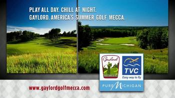 Gaylord Michigan Tourism Bureau TV Spot, 'Summer Golf Mecca' - Thumbnail 7