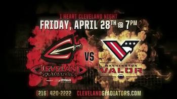 Cleveland Gladiators TV Spot, 'I Heart Cleveland Night' - Thumbnail 3