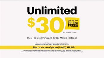 Sprint Unlimited TV Spot, 'Try New Things: Free Line' - Thumbnail 5