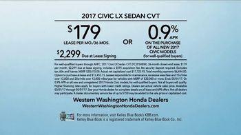 Honda Dream Garage Sales Event TV Spot, '2017 Civic LX: Heritage' [T2] - Thumbnail 8