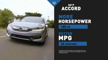 Honda Dream Garage Sales Event TV Spot, '2017 Accord vs. 2017 Camry' [T2] - Thumbnail 2