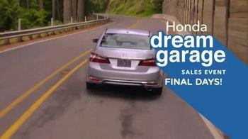 Honda Dream Garage Sales Event TV Spot, '2017 Accord vs. 2017 Camry' [T2] - Thumbnail 5