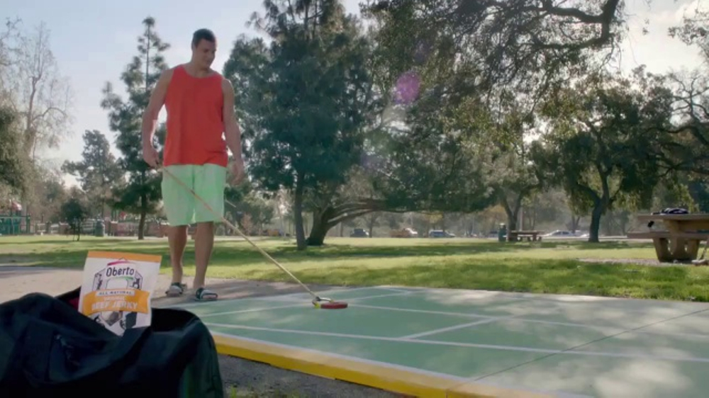 Oberto Beef Jerky TV Commercial, 'Gronk's Playing Shuffleboard Again'