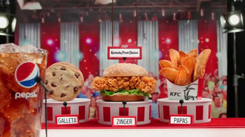 KFC $5 Fill Ups: Zinger TV Spot, 'Ganador' [Spanish] - 919 commercial airings