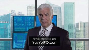 YayYo TV Spot, 'Initial Public Offering' Featuring John O'Hurley - Thumbnail 1