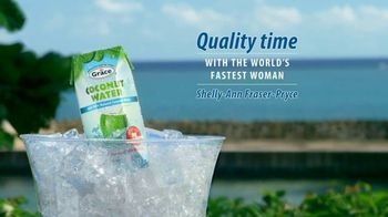 Grace Coconut Water TV Spot, 'Quality Time With Shelly-Ann Fraser-Pryce'
