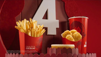 Wendy's 4 for $4 Meal TV Spot, 'WHO Wouldn't Love a Fresh Cheeseburger' - Thumbnail 4