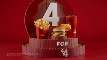 Wendy's 4 for $4 Meal TV Spot, 'WHO Wouldn't Love a Fresh Cheeseburger' - Thumbnail 5