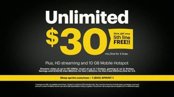 Sprint TV Spot, 'Topher Brophy: 5th Line Free' - Thumbnail 8