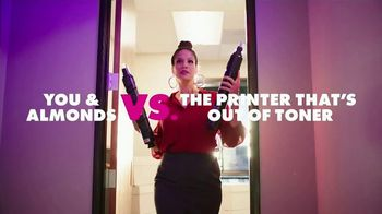 California Almonds TV Spot, 'Almonds vs. the Printer That's Out of Toner'