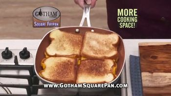 Gotham Steel Square Frypan TV Spot, 'More Cooking Space'