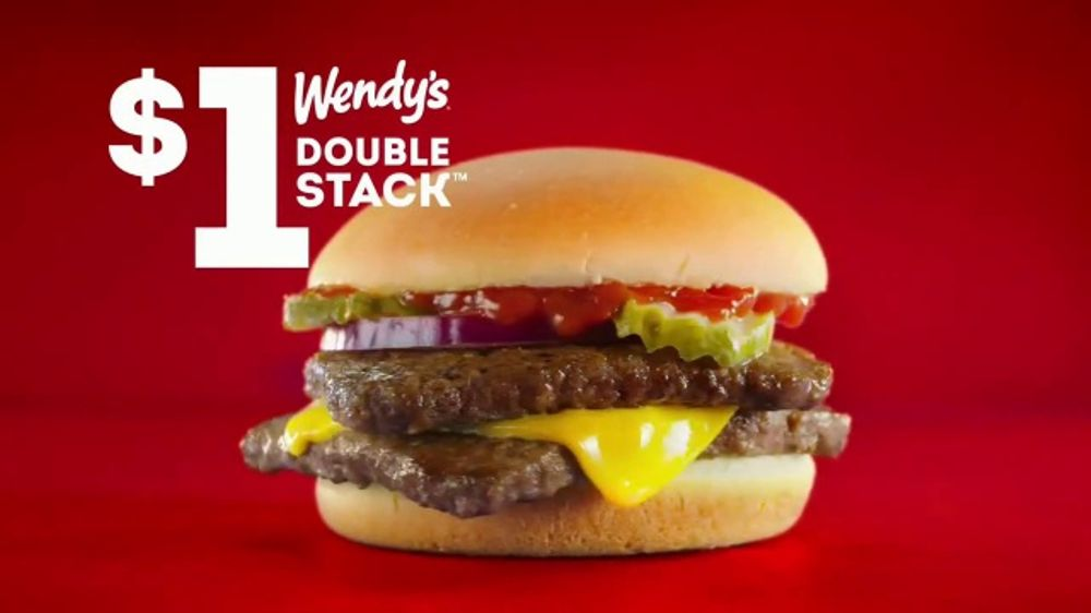 Wendys Double Stack TV Commercial Get It For A Dollar