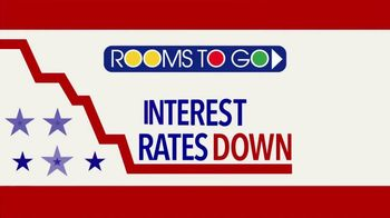 Rooms to Go Anniversary Sale TV Spot, 'Interest Rates Down to Zero' - Thumbnail 8