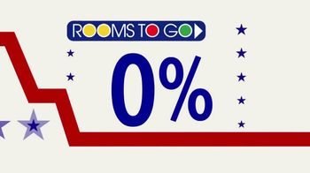Rooms to Go Anniversary Sale TV Spot, 'Interest Rates Down to Zero' - Thumbnail 3