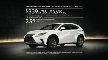 Lexus Special Presidents' Day Offer TV Spot, 'Glass World: 2018 NX 300' [T2] - Thumbnail 10