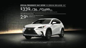 Lexus Special Presidents' Day Offer TV Spot, 'Glass World: 2018 NX 300' [T2] - Thumbnail 9