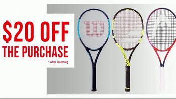 Tennis Express TV Spot, 'Tennis Racquets Demo' - 583 commercial airings