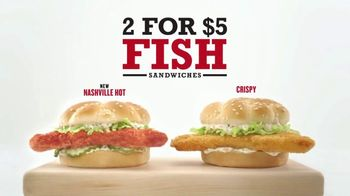 Arby's 2 for $5 Fish Sandwiches TV Spot, 'Buy a Boat Already'